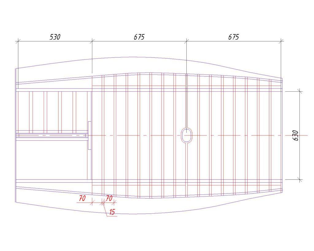 чертеж днища для лодки ПВХ